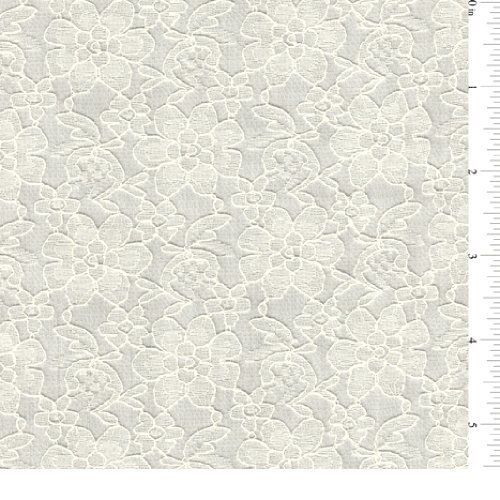"""60"""" Ivory Lace 15 Yards Wholesale By The Bolt Fabric Outlet"""