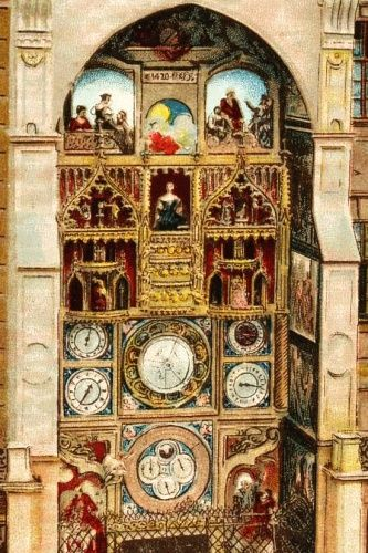 Původní orloj v Olomouci