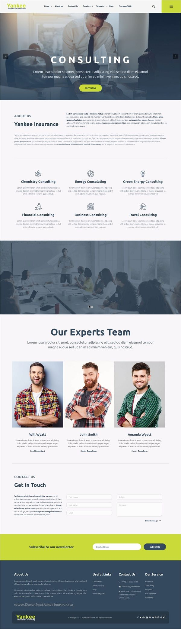 Yankee is clean and modern design 3in1 responsive #WordPress theme for insurance and #business consulting #firms professional website download now➩ https://themeforest.net/item/yankee-insurance-consulting-wordpress-theme/19745716?ref=Datasata