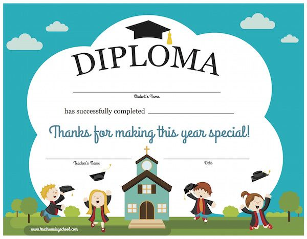 printable sunday school diploma