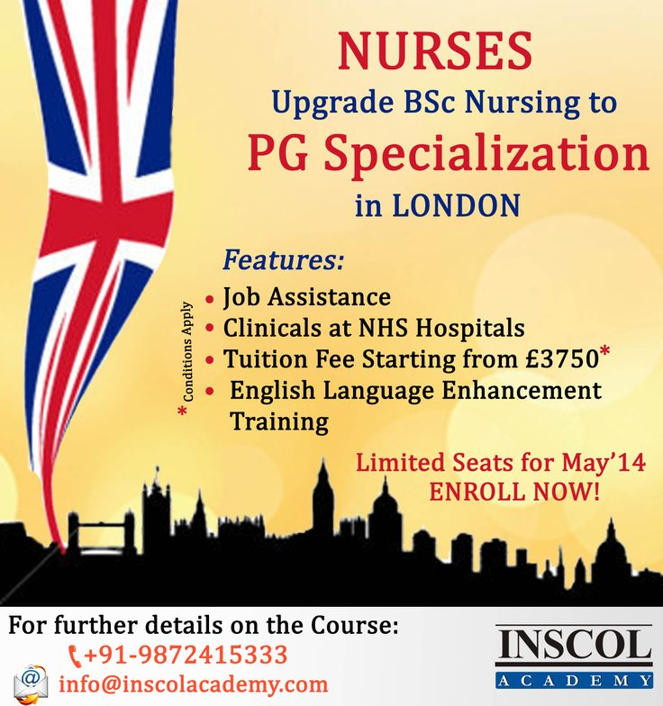 Nurses study MSc #Nursing and #Healthcare Integrated at BBP University, London (UK). -Job Assistance -Tuition Fee Starting from £3750* -Clinicals at NHS Hospitals -English Language Enhancement Training Contact Us at: +91-9872415333 E-mail Us at: info@inscolacademy.com #nursingeducation #inscolnursingcourses #nursingUK