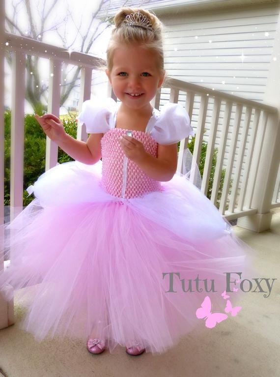 USA Princess Wedding Party Prom Birthday Skirt Tutu Dress for Baby Newborn Girls