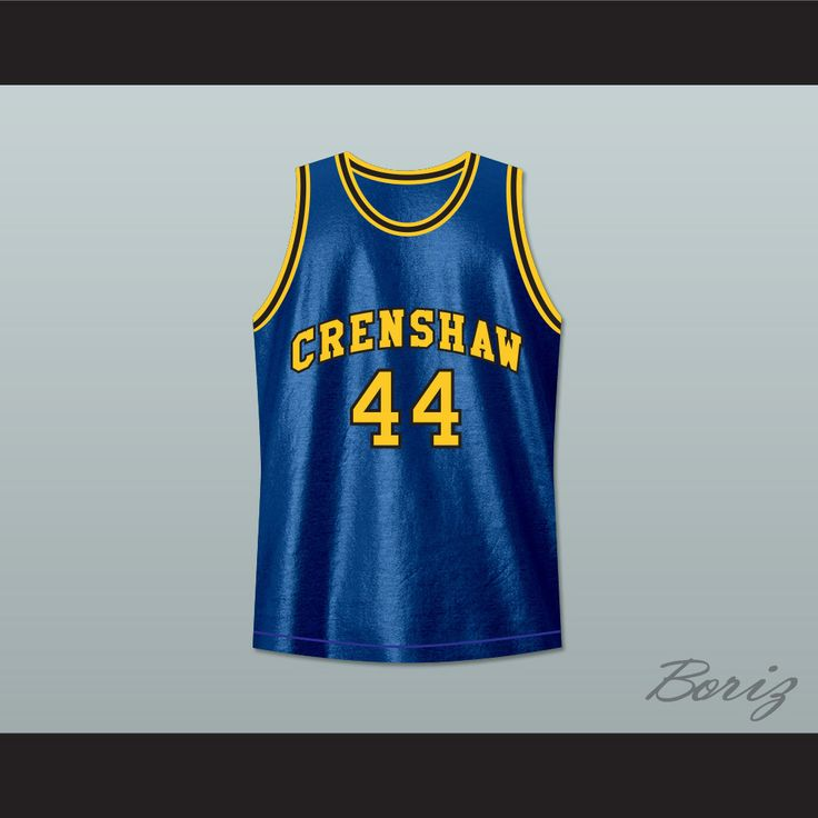 """Kobe Bryant 44 Crenshaw High School Blue Basketball Jersey Moesha. STITCH SEWN GRAPHICS  CUSTOM BACK NAME CUSTOM BACK NUMBER ALL SIZES AVAILABLE SHIPPING TIME 3-5 WEEKS WITH ONLINE TRACKING NUMBER Be sure to compare your measurements with a jersey that already fits you. Please consider ordering a larger size, if you prefer a loose fit. HOW TO CALCULATE CHEST SIZE: Width of your Chest plus Width of your Back plus 4 to 6 inches to account for space for a loose fit. Example: 18"""" wide chest plus…"""