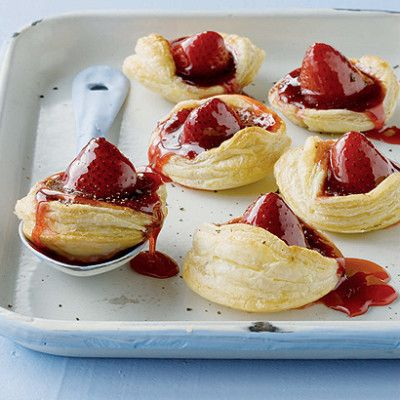 Taste Mag | Sweet strawberry and black pepper jam tarts tossed with sticky syrup @ http://taste.co.za/recipes/sweet-strawberry-and-black-pepper-jam-tarts-tossed-with-sticky-syrup/