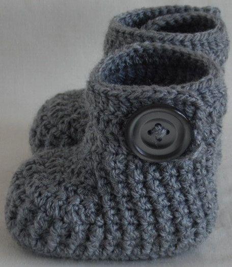 Häkeln Baby Booties gestrickt Baby stricken Schuhe für Neugeborene, 0 bis 3 Monate oder 3 bis 6 Monate - wählen Sie Ihre Größe und Farbe