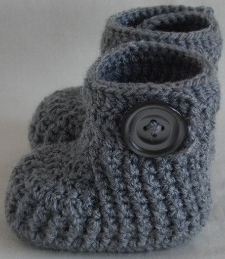 Crochet baby booties knitted baby boots knit shoes for newborn, 0 to 3 month or 3 to 6 months- ONLY!
