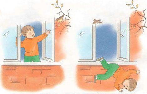 Jugar cerca de las ventanas