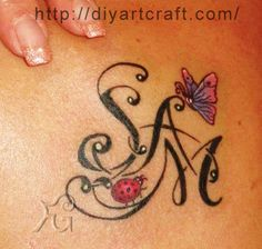 Ladybug + butterfly + SAM #tattoo