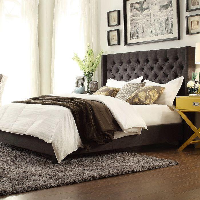 Tufted Wingback Headboard Bed 216 best Sleep
