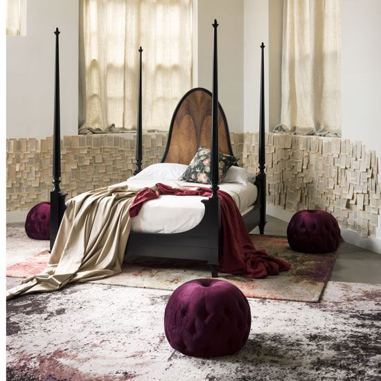 Our Livorno four poster bed, as shot by Living Etc simonhorn.com