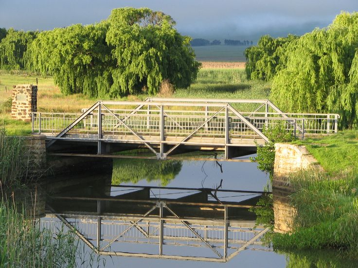 The Paul Kruger Bridge in Wakkerstroom, South Africa. Built in 1897. Now a National Monument.