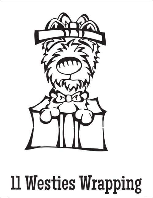 Free coloring pages of westie dogs for Westie coloring pages