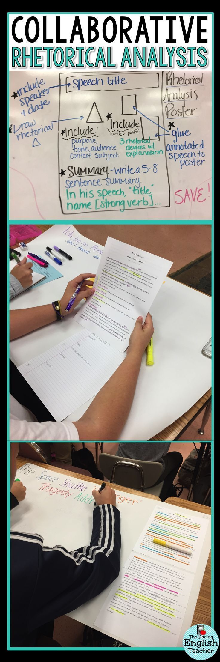 Make rhetorical analysis engaging with a fun and rigorous collaborative poster project. Ideal for middle school and high school students.