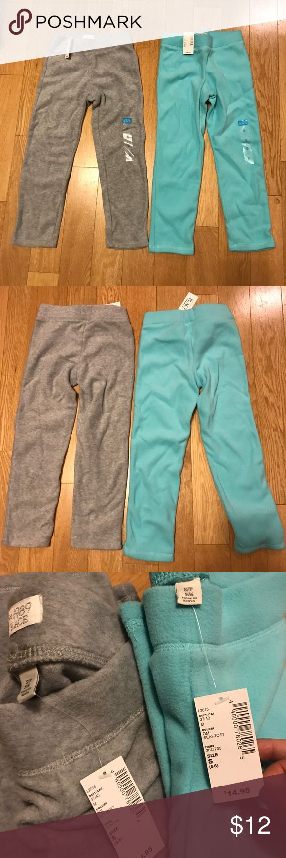 Children's Place Fleece pants NWT children's place fleece pants for girls in seafrost and grey in size small 5/6. Purchased these to gift to someone but ended up forgetting them in my car lol hopefully they can find a new home! Children's Place Bottoms Sweatpants & Joggers