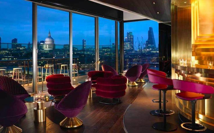 The most romantic place in London. / rooftop bar, london, interior design  #bardesign #restaurantdesign #decor / For more: http://www.designcontract.eu/hospitality/london-night-glamorous-bars/