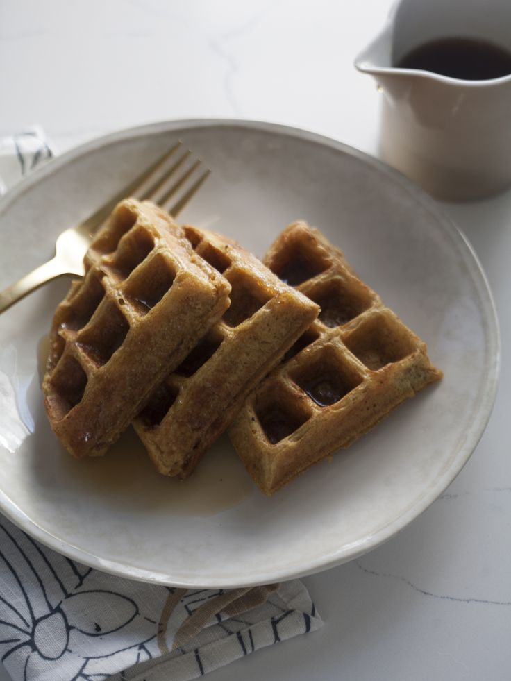 Treat the kids to a stack of Pumpkin Waffles for a realizing Fall treat.