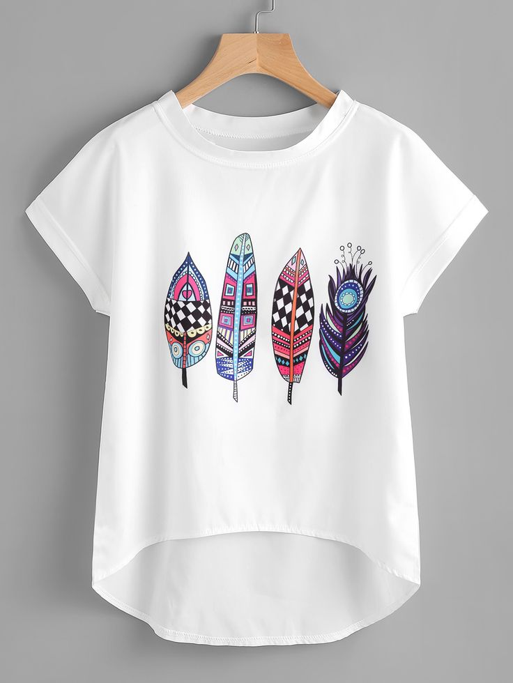 Shop Aztec Feather Print Dip Hem Chiffon Top online. SheIn offers Aztec Feather Print Dip Hem Chiffon Top & more to fit your fashionable needs.