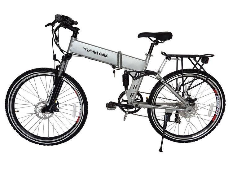 X-treme 2016 Baja 36V Lithium Powered Electric Folding Mountain Bike Alum Color