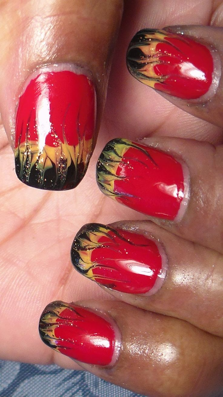 15 best nails images on pinterest halloween costumes halloween great design for halloween if you are going as a devilhot stuff with these hell fire nails prinsesfo Choice Image