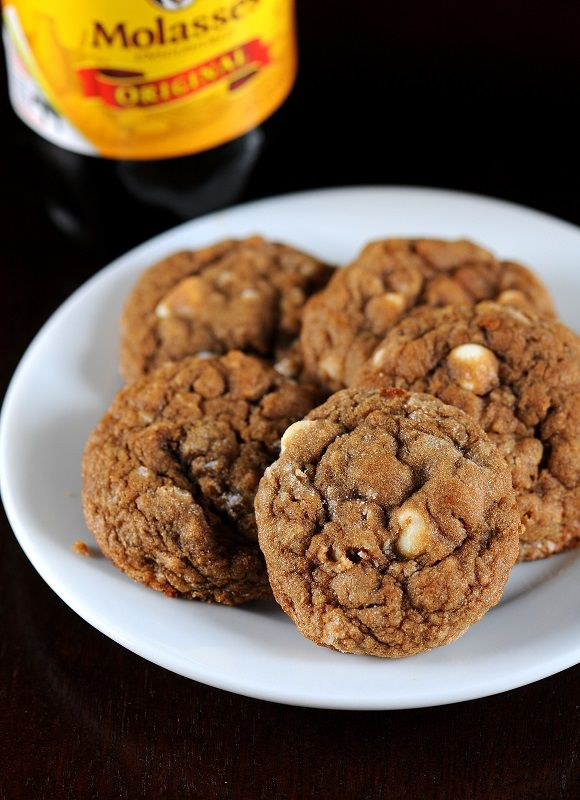 Molasses Oatmeal White Chocolate Chip Cookies | Recipe