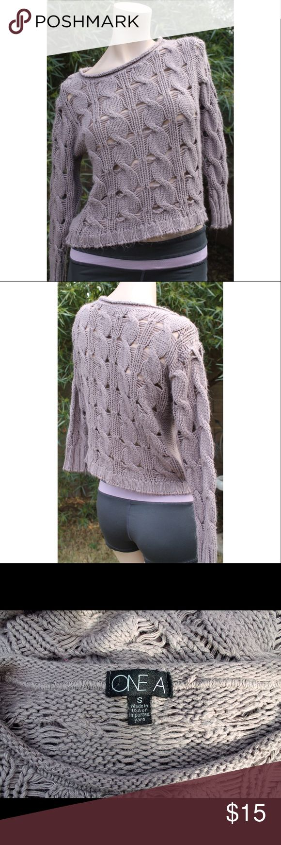 Nordstrom Mauve Braided Sweater Size Small Braided Detail Sweater. Size Small. Good Condition - One Loose Thread. Nordstrom Sweaters Crew & Scoop Necks