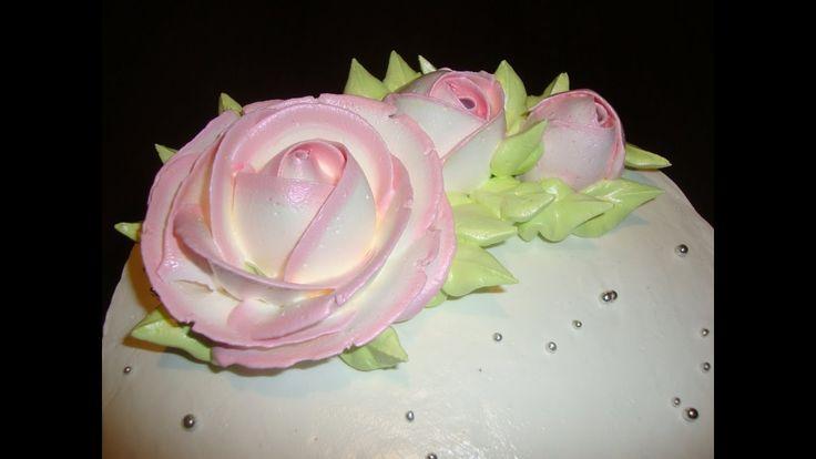 1.4. Очень просто. Розы из крема