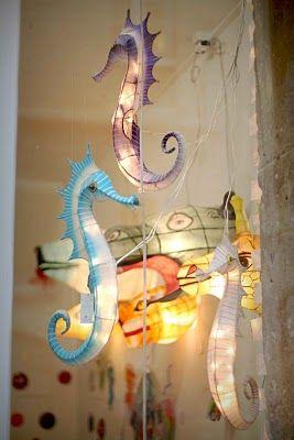 Seahorses in a store Petit Pan in Paris.