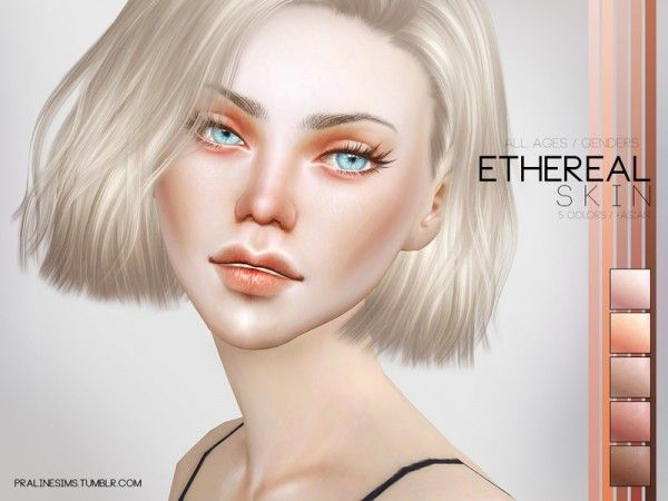 The Sims Resource: Ethereal Skin by Pralinesims • Sims 4 Downloads