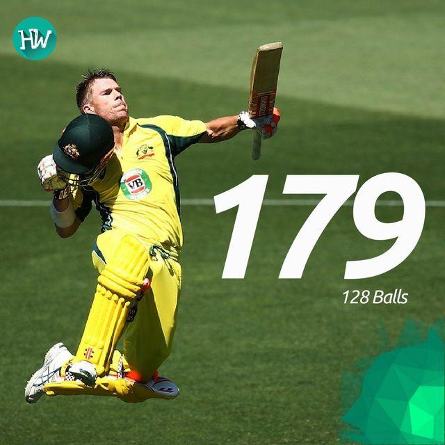 David Warner racked up his highest ODI score and his fastest with a brilliant century! #AUSvPAK #AUS #PAK #cricket