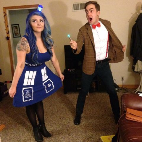 Couples who time travel together, stay together. And if you're feeling extra daring, pair this geeky Dr. Who and Tardis costume with blue hair to make your look really stand out.Click through for more adorable couples Halloween costume ideas.