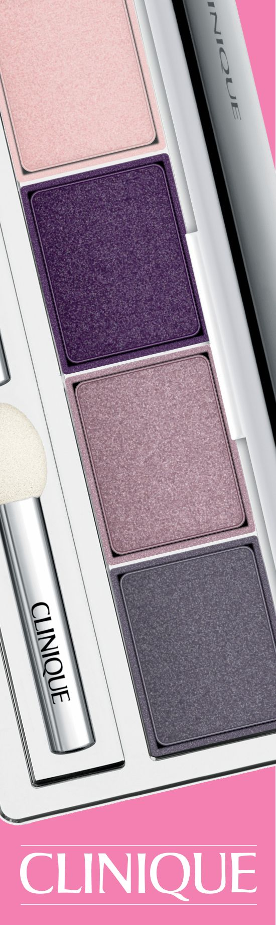 A purple smoky eye is a snap with Clinique All About Shadow Quad in Going Steady.