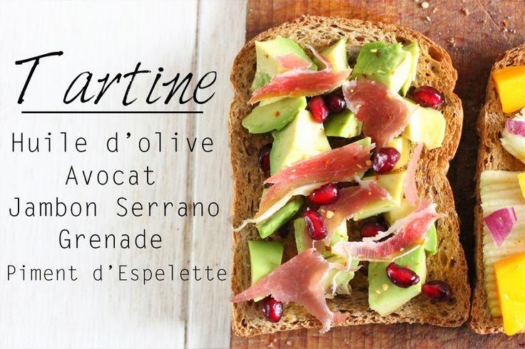 Une touche de rose: blog mode, photos, beauté, DIY, voyage, déco, cuisine: Tartines salées :: FOOD