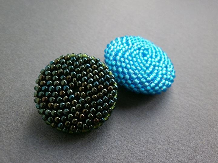 Brooches, pins, beaded beads