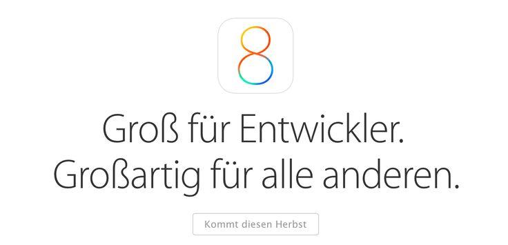 iOS 8 beta 3 kommt am 8. Juli 2014 - http://apfeleimer.de/2014/06/ios-8-beta-3-kommt-8-juli-2014 - iOS 8 beta 3 Release Termin am 8. Juli! Gefühlt ist iOS 8 beta 2 deutlich unstabiler und beinhaltet mehr Bugs als iOS 8 beta 1, dennoch soll sich nach Angaben von BGR Apple ein wenig länger Zeit mit dem Release der nächsten Beta-Version von iOS 8 lassen. Üblich sind normalerweise etwa zwei Woc...
