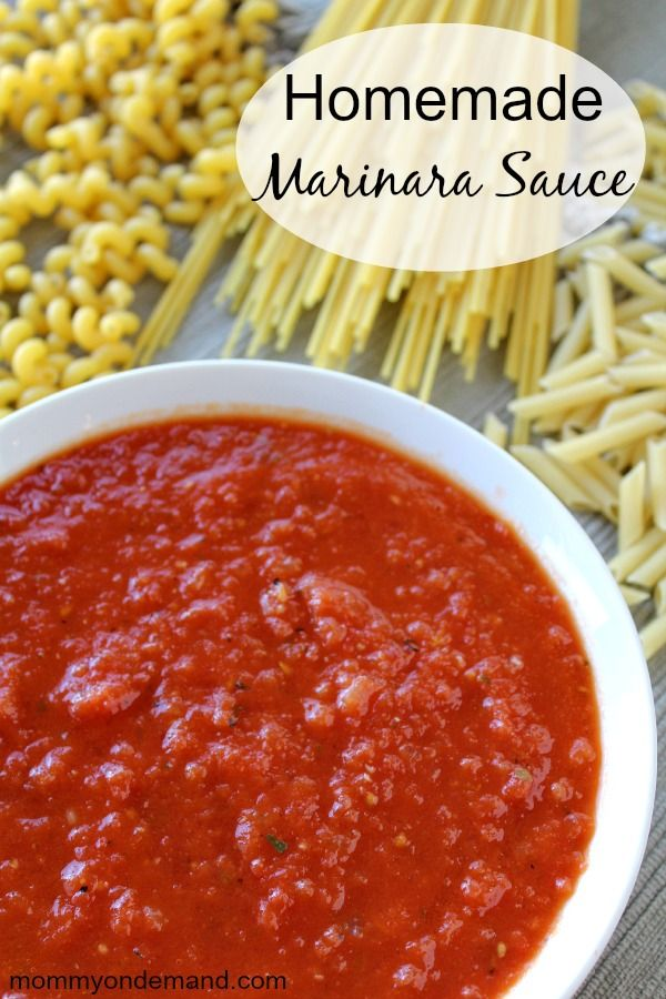how to make marinara with canned tomato sauce