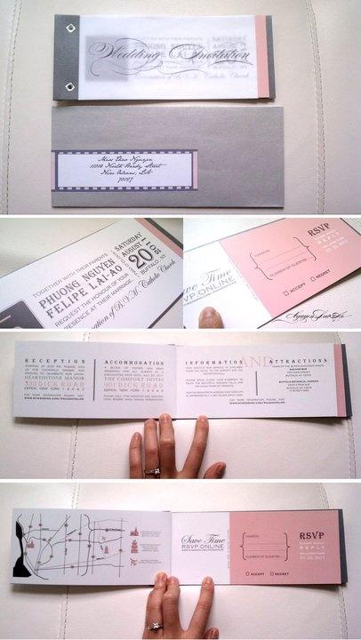 DIY booklet invites
