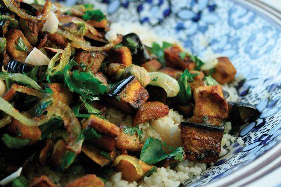RECEPT. Noord-Afrikaanse aubergine met couscous - De Standaard