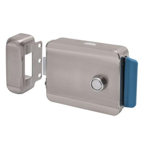 Yala electromagnetica SX-09. CARACTERISTICILE YALEI ELECTROMAGNETICE APLICATE SX-09 SX-09 se poate monta in sisteme de interfonie sau control acces.  La impuls electric incuietoarea se deschide si se inchide inapoi numai dupa ce usa sau poarta a fost deschisa si inchisa.  Deschidere electrica sau manuala Butuc cu chei exterior; 5 chei Buton Montare universala (stanga/dreapta) Bobina dubla substituibila Material: carcasa si opritor (otel nichelat)
