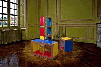 Les 3 meubles fabulem en version mondrian naturel pour moderniser un salon avec chic