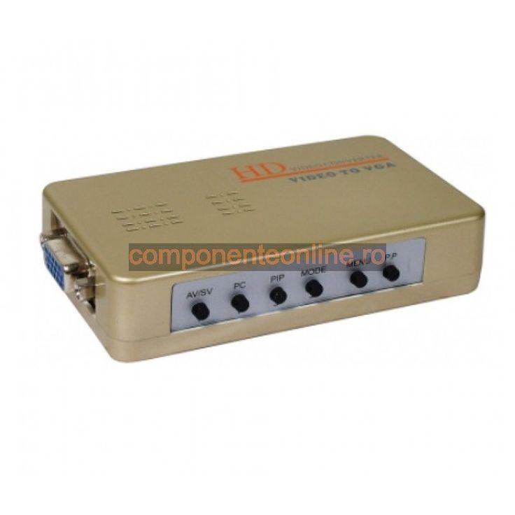 Convertor semnal video, AV - VGA - 103320