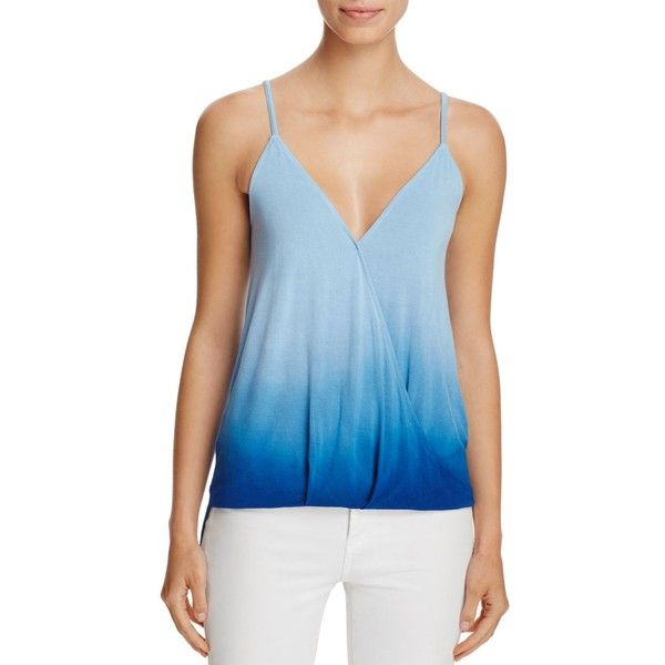 Red Haute Crossover High/Low Cami Top (5.400 RUB) ❤ liked on Polyvore featuring tops, pacific, blue cami, blue tank, cross over top, blue camisole top and low tank top