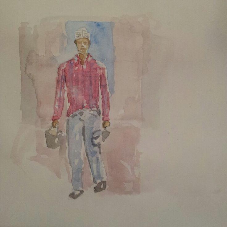 Cucchiara Rumena. #Personaggetti #fruso #artworks #artwork #watercolor #watercolour #mywatercolor #acquerelli #acquerello #cool  #igersroma