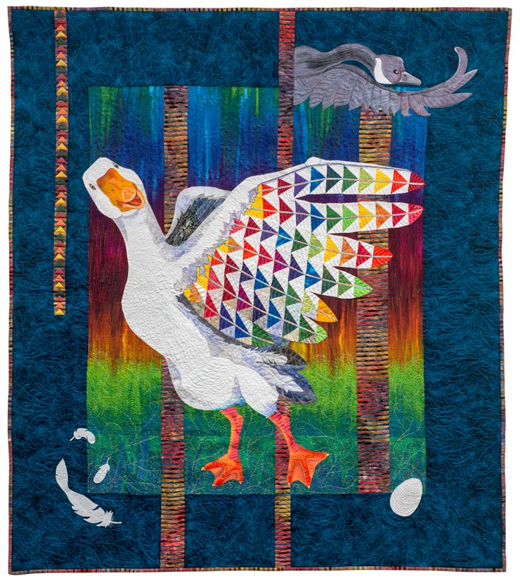 Duck CLM0211183 Quilt Blanket Animal quilts, Colorful
