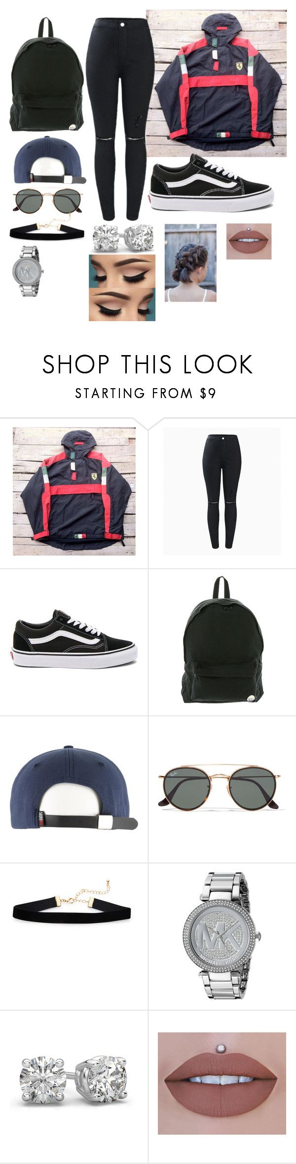 """""""Untitled #5192"""" by originaltwfan ❤ liked on Polyvore featuring Ferrari, Vans, Roxy, Ray-Ban and Michael Kors"""