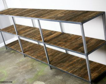 Industrial/rustic bookcase shelving unit. Handmade by leecowen