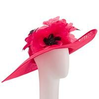 John Lewis Sarah Large Occasion Hat, Poppy Red