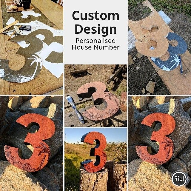 Custom house number design. We love custom orders. Contact us for a quote. #personalisation #customdesign #housenumbers #woodwork #pyrography #etsystore #beamorfinedesign #findamaker via @RiplApp www.etsy.com/shop/beamorfinedesign