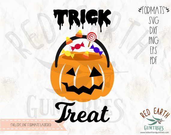 Halloween Trick Or Treat Pumpkin Face Halloween Candy Svg Png Eps Dxf Cricut Silhouette Studio Vinyl De Bunny Svg Halloween Trick Or Treat Vinyl Decals