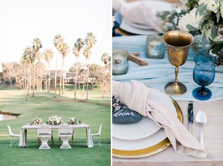 Modern Blue + Cool Chambray Wedding Inspiration at the westdrift Manhattan Beach