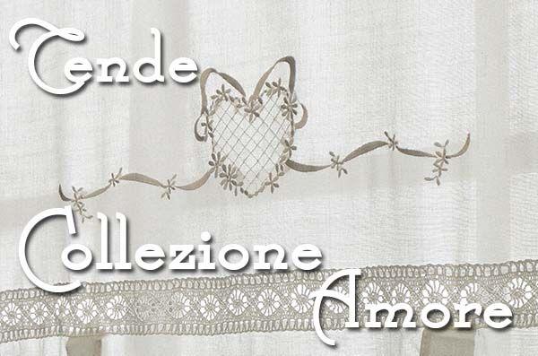 """Particolare """"romantico"""" delle tende finestra shabby chic Amore Collection"""